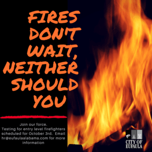 Fires Dont Wait Neither Should You - Join the Fire Department